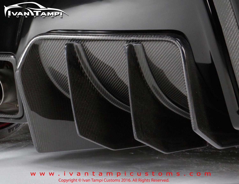 Xik Carbon Fiber Rear Diffuser Series 1 C7 Corvette